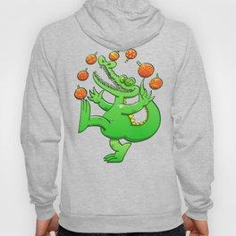 Christmas Alligator Juggling Xmas Balls Hoody
