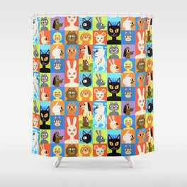 Critters Shower Curtain