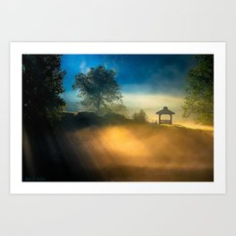 Morning In North Georgia - Misty Landscape Art Print