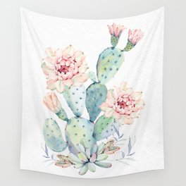 Prettiest Cactus Rose Watercolor by Nature Magick Wall Tapestry