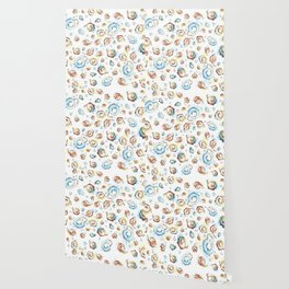 Elephants Pattern Watercolor Whimsical Animals Wallpaper