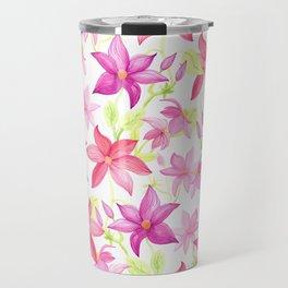 Clematis flower Travel Mug