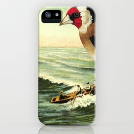 With rainfall and thunder close behind iPhone Case