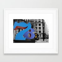 numbers Framed Art Prints featuring Numbers by liberthine01