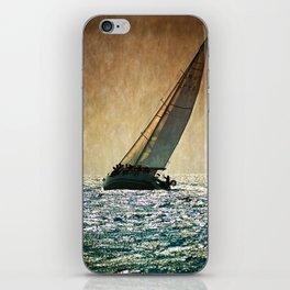 sailracers on sailboat iPhone Skin