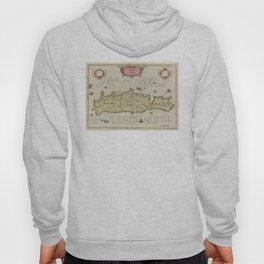 Vintage Map of Crete Greece (1665) Hoody