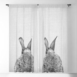 Rabbit Tail - Black & White Blackout Curtain