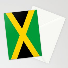 Jamaican flag, flag of Jamaica Stationery Cards
