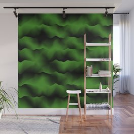 Emerald Green Waves Wall Mural
