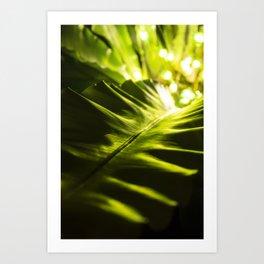 The Night Garden Green Art Print
