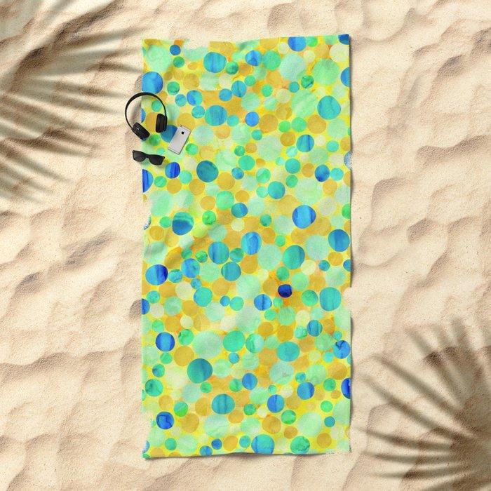 Confetti Pattern 07 Beach Towel