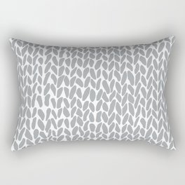 Hand Knit Zoom Grey Rectangular Pillow