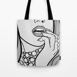 Black and White Pop Art  Tote Bag