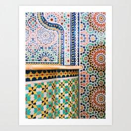 chicago mosaic Art Print
