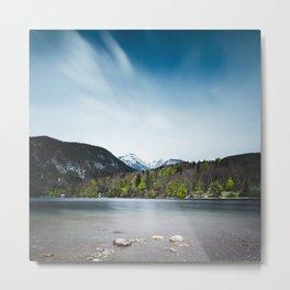 Lake Bohinj with Alps in Slovenia Metal Print