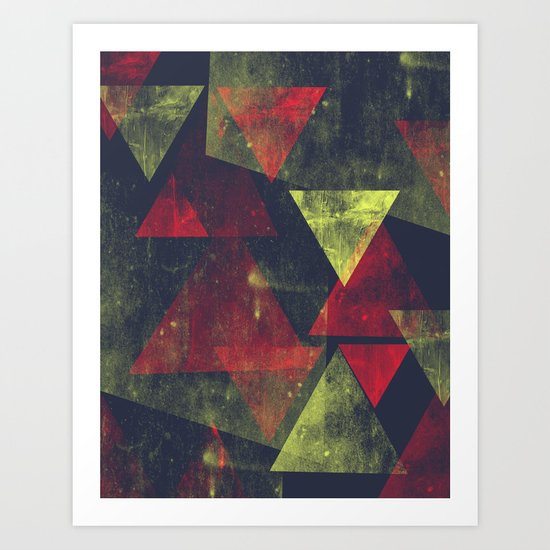 weathered triangles Art Print