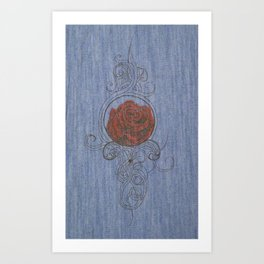 The Red One. Art Print