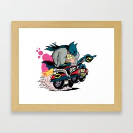 Bat-Fink Framed Art Print