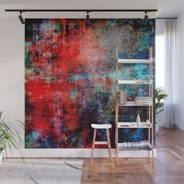 Modern  Red Abstract Design Wall Mural