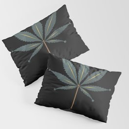 savage flora - hemp leaf Pillow Sham