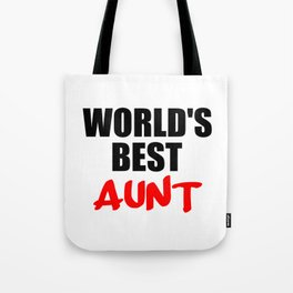 worlds best aunt funny sayings and logos Tote Bag