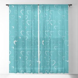 Made for you my heart 11 Sheer Curtain