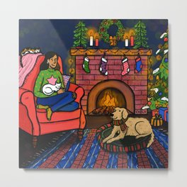 Warm & Cozy Christmas Metal Print