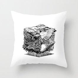 Pigeon Cube Throw Pillow