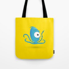 Octopus Blue/Yellow Tote Bag