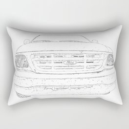 pickup truck drawing Rectangular Pillow