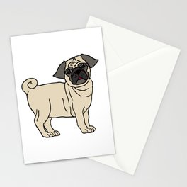Pug-licious! - LaurensColour Stationery Cards