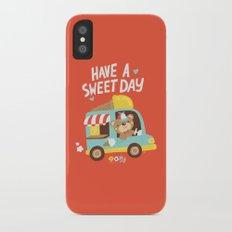 Ice Cream Bear iPhone X Slim Case