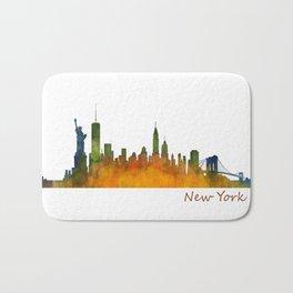 New York City Skyline Hq V01 Bath Mat