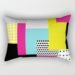 Print in memphis style design Rectangular Pillow