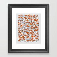 City Grid Day Print Framed Art Print