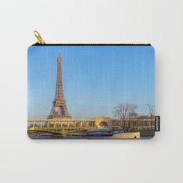 Sunset over Bir-hakeim bridge - Paris Carry-All Pouch