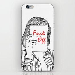 Stay away iPhone Skin