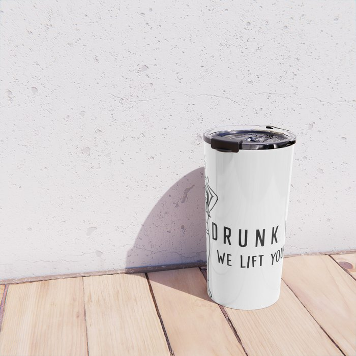 Drunk Yoga: We Lift Your Spirits Travel Mug
