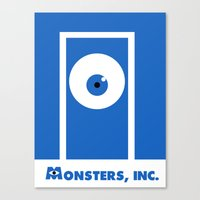 monsters inc Canvas Prints featuring Monsters, inc. by Citron Vert