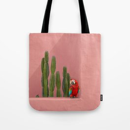 Macaw in Mexico Tote Bag
