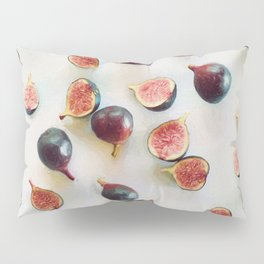 Fresh Figs on Linen Pillow Sham