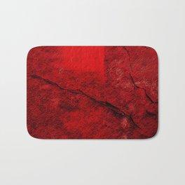 Textured Red Wall Abstract Art Bath Mat