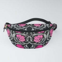 William Morris Pimpernel, Fuchsia Pink and Black Fanny Pack