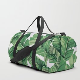 Tropical banana leaves VI Duffle Bag