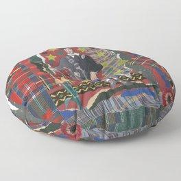 Bonnie Lad & Plaid by Nettwork2Design Nettie Heron-Middleton Floor Pillow