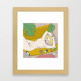 the yellow Framed Art Print