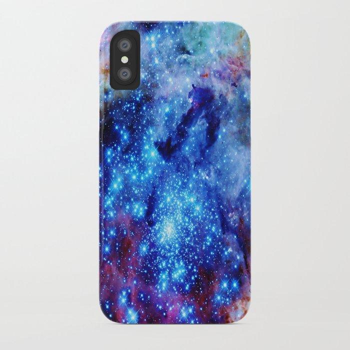 galaxy blue sparkle iPhone Case