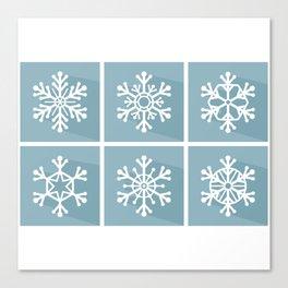 Snowflake flat design Canvas Print