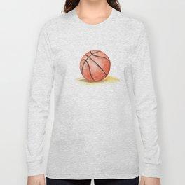 Basketball Watercolor Long Sleeve T-shirt
