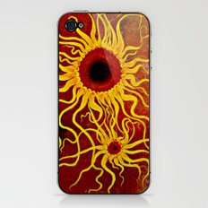 Psychedelic Susan 001, Sunflowers iPhone & iPod Skin
